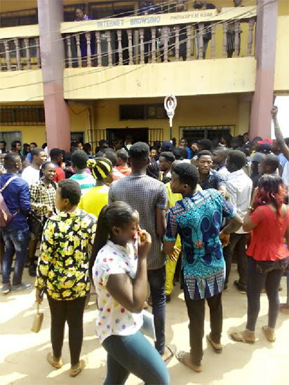FEDPOLYOKO students protest against ongoing strike