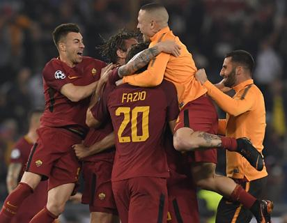 Roma spectacularly defeat Barcelona 3-0 to qualify for the semi finals