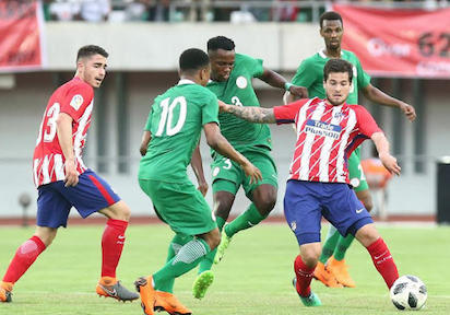Nigeria Vs Atletico Madrid Diego Simeone Lauds Nigeria Team B
