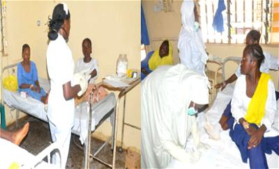 Some of the victims at Kawo General Hospital, yesterday. Photos: Olu Ajayi.