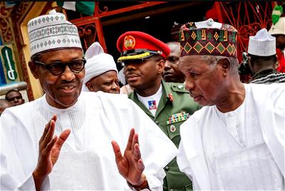 Buhari greets Gov Masari at 70