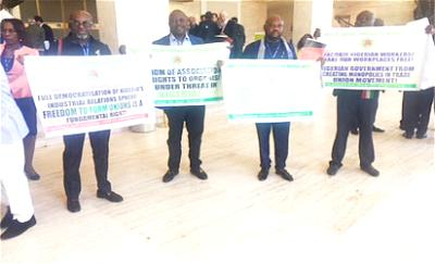 *Members of ULC during their protest in Geneva
