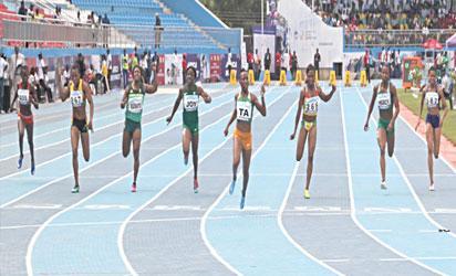 Athletes during Asaba games