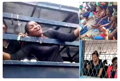 112 pro-Biafra Imo women who were arrested, detained and remanded in Owerri prison for participating in a peaceful protest to demand the whereabouts of the leader of the Indigenous People of Biafra, IPOB, Nnamdi Kanu.