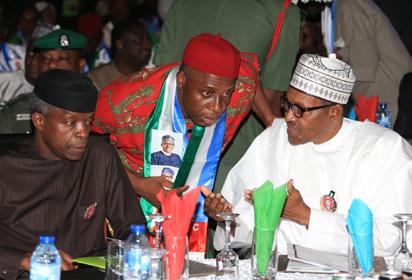 Photos: Buhari Amaechi, Ambode, others at APC 2019 Presidential Campaign  Council inauguration - Vanguard News