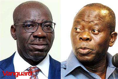 Edo APC Primaries: Stay off, Obaseki warns Oshiomhole
