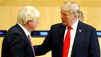 Boris Johnson, Trump, White House