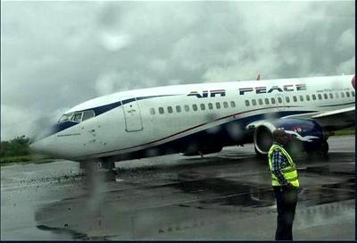 Air-Peace plane crash-lands in Lagos