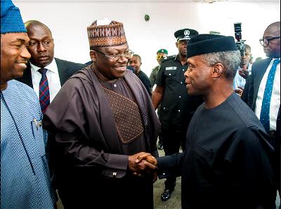 VP Osinbajo with Senate President, Ahmad Lawan