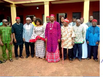 Eze-elect designate of Umuawa-Alaocha autonomous community in Umuahia North Local Government Area of Abia state, Chief Godswill Asomugha and other well-wishers