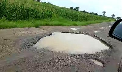 •Deplorable Oyo-Ogbomoso road, Uyo-Ikot Ekpene