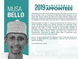 Musa, minister