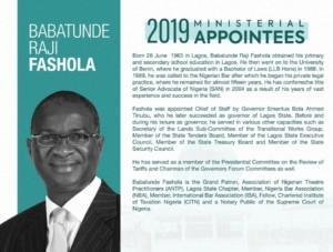 Buhari, minister, Fashola