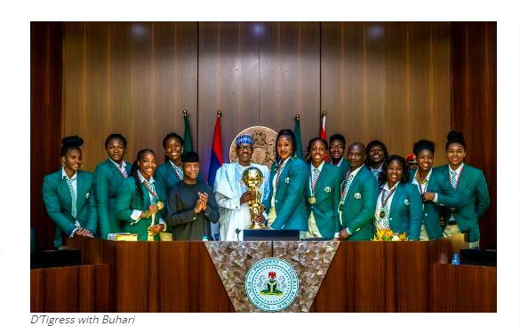 D'Tigress with Buhari