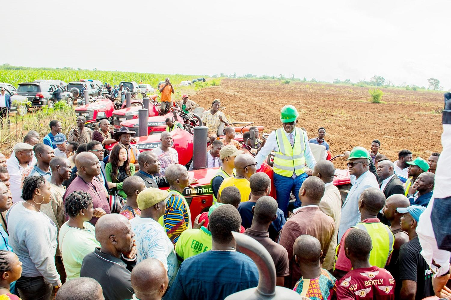 Obaseki's agric reforms: Over 10,600ha under cultivation in Edo as 2000 farmers benefit from programmes