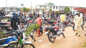 Motorcyclists protest colleague's killing in A-Ibom, destroy NTA vehicles