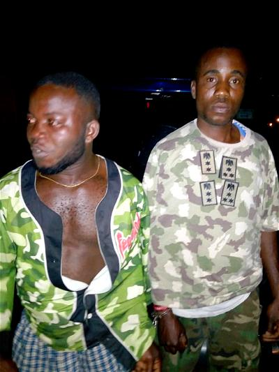 Police nab disabled persons for using military uniform to rob in Rivers