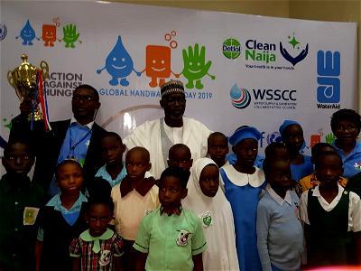 2019 Global Hand Washing Day: Minister engages children on prevention against killer diseases