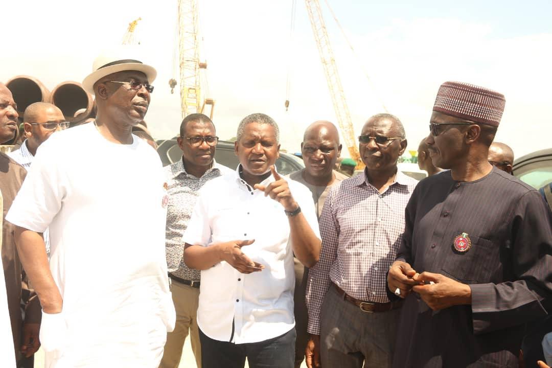 BREAKING: Sylva, Kyari arrive Lagos, inspect $12bn Dangote refinery