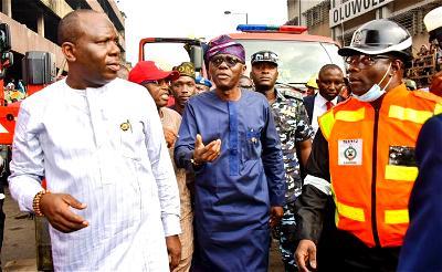 Sanwo-Olu in Balogun Market, unveils Lagos Island regeneration plan
