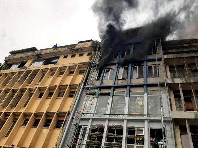 fire, Market, Lagos