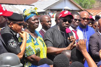 Obaseki explains how arsonists burn Edo markets, attack firefighters