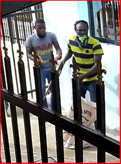 bank customers, Robbers
