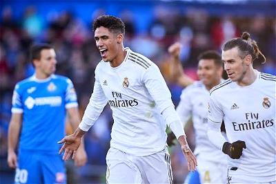 Varane, Getafe, Real Madrid