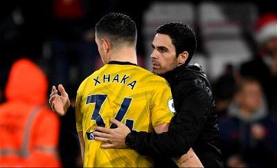 Granit Xhaka, Mikel Arteta, Arsenal