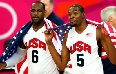 LeBron, Durant, USA, basketball