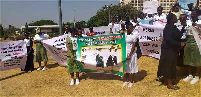 Furore over female corps members wearing trousers