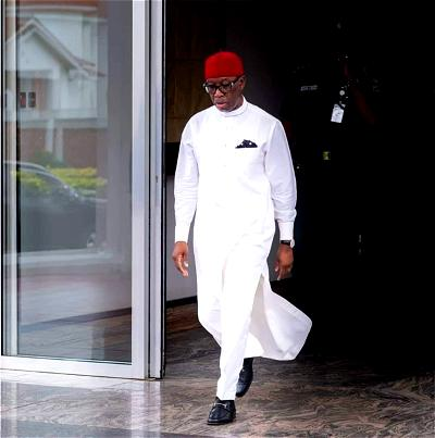 Okowa writes from isolation, says COVID-19 is not hoax