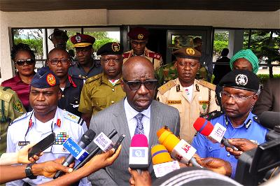 Farmer-herder clashes: Obaseki meets security chiefs, deliberate on framework for state's vigilante outfit