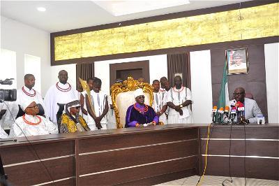 Coronavirus: Obaseki meets religious, traditional leaders, seeks collective action to ward off virus