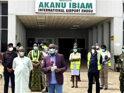 COVID-19, Enugu airport