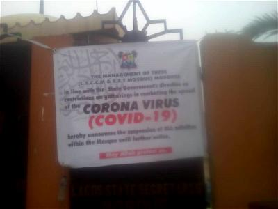 COVID-19: Lagos Mosques deserted as worshippers comply with ban on religious gatherings