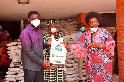 COVID-19: Aisha Buhari donates 1,000 bags of 10kg rice to Edo