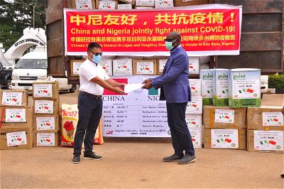 Edo receives 350,000 facemasks, 10,000 medical gloves, others from China company