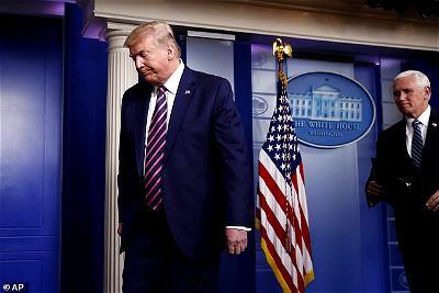 Coronavirus: Trump walks out of daily press briefing