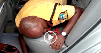 UPDATED:LASTMA officer beaten to pulp by police officers (VIDEO)