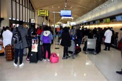 Nigerians in usa depart for Abuja