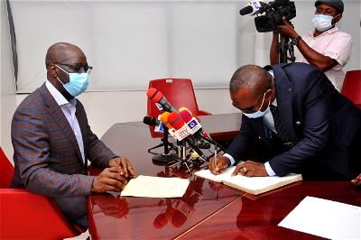 Obaseki swears-in new Communication Commissioner, Efe Stewart