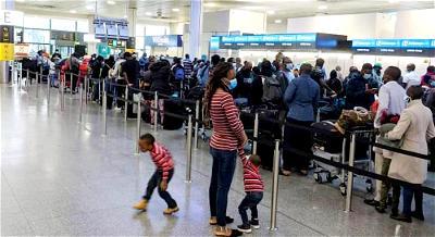 Finally, 296 Nigerians stranded in London, arrive Abuja