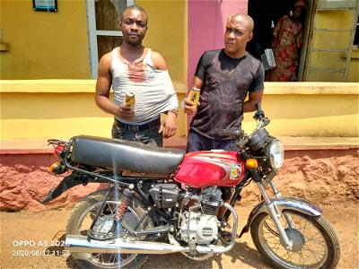 Police arrest two-man motorcycle snatching syndicate in Ogun