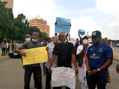 COVID-19: Students protest in Abuja over continued closure of varsities, polytechnics