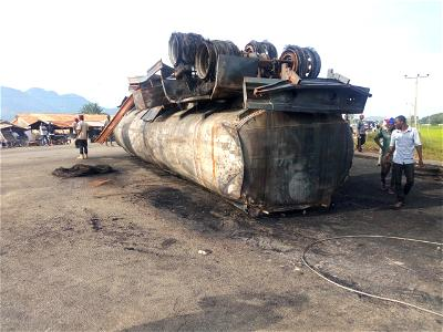 Fuel scooper, one other injured as petrol tanker explodes in Bauchi