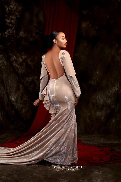 Rahma Sadau's backless dress causes massive stir on twitter