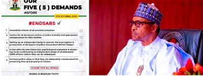 New Year Vow: Buhari restates commitment to #ENDSARS youths' 5 demands