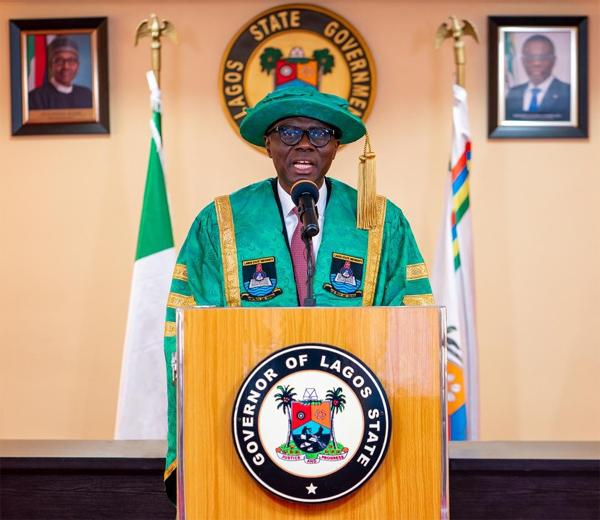 JUST IN: Sanwo-Olu swears-in newly elected 57 council chairmen