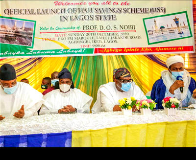 """Lagos State Government says it will support the National Hajj Commission of Nigeria (NAHCON) in all its laudable initiatives aimed at improving the narratives of Hajj operations in the country, including the Hajj Savings Scheme. Governor Babajide Sanwo-Olu of Lagos State gave the assurance on Sunday at the inauguration of the Hajj Savings Scheme (HSS) for South West States of the country, held at Ikeja, Lagos. The News Agency of Nigeria (NAN) reports that the HSS was first launched in Kano State for the Northwest on Oct. 4, 2020. The scheme is a tripartite arrangement between the NAHCON, States Muslim Pilgrims Welfare Boards and Ja'iz Bank. It is designed to encourage intending pilgrims to save towards actualising their dreams of performing the Holy pilgrimage in Saudi Arabia as enshrined in the Holy Qur'an within a specified period of time. Sanwo-Olu, who was represented by the Deputy Governor of Lagos State, Dr Obafemi Hamzat, described the scheme as a welcome development. According to him, it came at a good time especially as the global economic meltdown is affecting virtually everybody and countries of the world including Nigeria. The governor noted that the launch of the scheme reflected the spirit of oneness amongst all the stakeholders adding that they would ensure its successful implementation. """"I commend the management of the commission and assure them of the state government's support to all its laudable initiatives aimed at improving the narratives of Hajj Operations in the country including the Hajj Savings Scheme. """"I call on all Islamic Clerics in the state to enjoin their followers to adhere strictly to the COVID-19 protocols as the disease is still very much around and active. """"The disease is still very much around and active. """"We must, therefore, ensure that we know our status and adhere strictly to the laid down protocols of social distancing, regular hand washing with soap and running water, using the hand sanitisers, wearing of face masks, avoid h"""